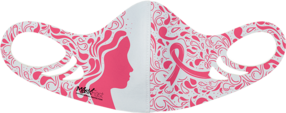MF6 Antimicrobial Spacer Face Mask - Pink Ribbon Woman